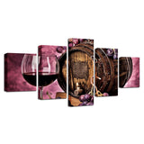 Kitchen Purple Grapes Rwine Glass Oak Barrel - Mystikz Gaming