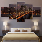 Decor Manhattan Bridge New York City Night Landscape - Mystikz Gaming