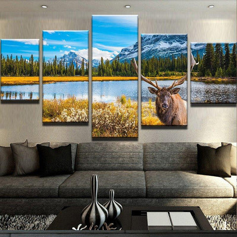 Ative Animal Deers Bedroom Oil Prints - Mystikz Gaming