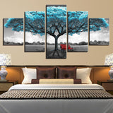 Decor Blue Big Tree Rchair Abstract Landscape - Mystikz Gaming
