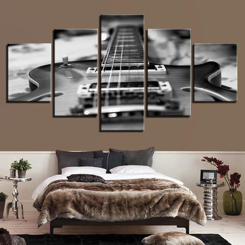 Guitar Vintage Black White Music - Mystikz Gaming