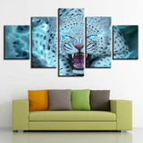 White Leopard Tiger Abstract Animal