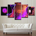 Abstract Music DJ Console Instrument Mixer Painting - Mystikz Gaming