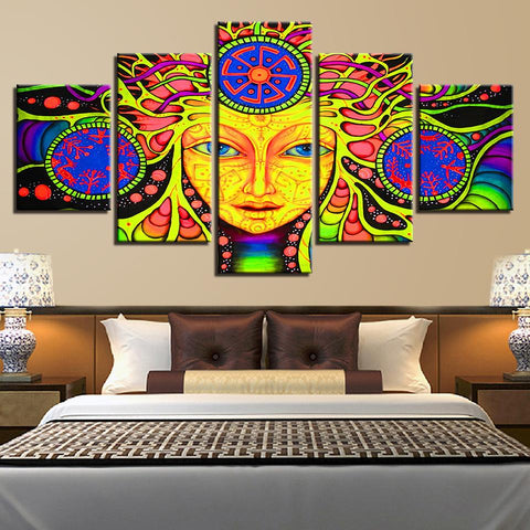 Psychedelic Mandala Abstract Girl - Mystikz Gaming