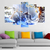 Snow Forest Animal Squirrel Wolf Landscape Picture
