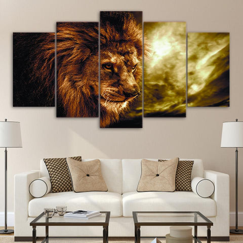 Photo Style Lion Animal Abstract - Mystikz Gaming
