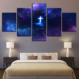 Abstract Nebula Christ Cross Believe Faith - Mystikz Gaming