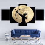 Decoration American Indian Archery Moon Night Scene Art - Mystikz Gaming