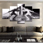 Legend Of Zelda Dark Link/Light Link 5 Piece Canvas Art