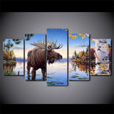 Animal Elk Deer River Moose - Mystikz Gaming