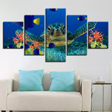 Deep Sea Turtles Coral Fish Seascape Goldfish - Mystikz Gaming