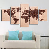 Abstract Coffee Beans World Map - Mystikz Gaming