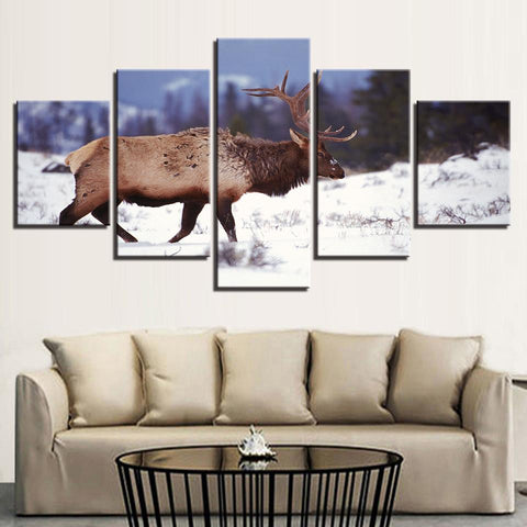 Winter Snow Forest Deer Animal