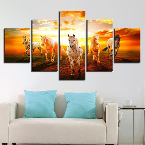 Sunset Prairie Horses For