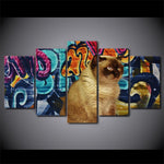 Abstract Graffiti Shorthair Brown Cat - Mystikz Gaming