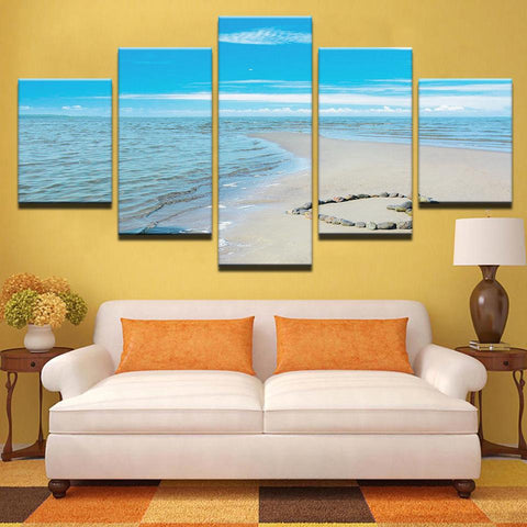Blue Sky Sea Romantic Beach Love Heart Room - Mystikz Gaming