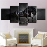 Art Beautiful Black Steanimal Horse - Mystikz Gaming