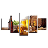 Restaurant Oak Barrels Beer And Wine Glass Kitchen