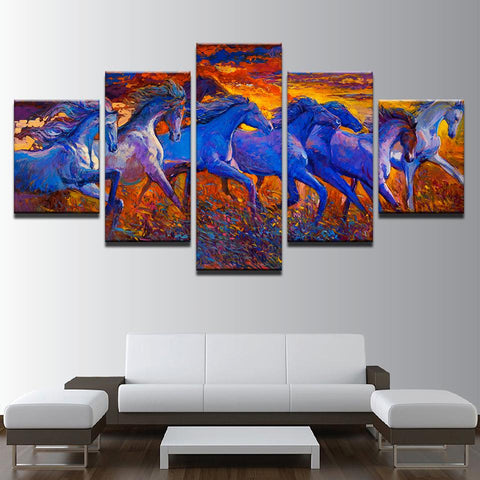 Unset Running Horses Abstract Animal