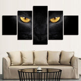 Golden Eyblack Cat Abstract Animal - Mystikz Gaming
