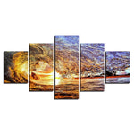Home Ocean Sunset Sea Waves Seascape - Mystikz Gaming