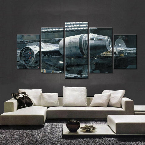 Movie Star Wars Millennium Falcon Spacecraft Art On Artworks - Mystikz Gaming