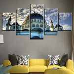 Muslim Mosque Painting Islamic Religion Sky Clouds Building - Mystikz Gaming