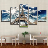 Eiffel Tower Blue Sky Building Landscape - Mystikz Gaming