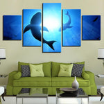 Abstract Blue Ocean Shark Seascape - Mystikz Gaming