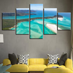 Green Sea Waves Beach Island Seascape Bedroom - Mystikz Gaming