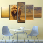 Animal Brown Bear And Man Abstract - Mystikz Gaming