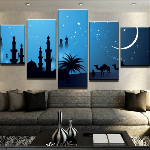 Islamic Celebration Moon Camel Muslim Mosque - Mystikz Gaming