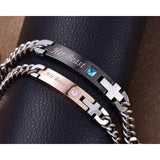 His Beauty Her Beast Stainless Steel Matching Couple Bracelet