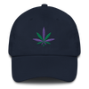 Green and Purple Leaf Hat