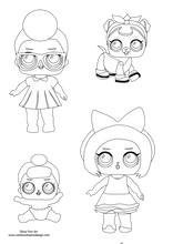 Load image into Gallery viewer, Colouring Page - Lol dolls