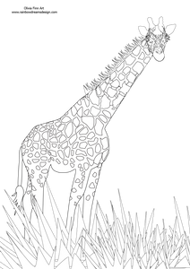 Colouring Page - Giraffe