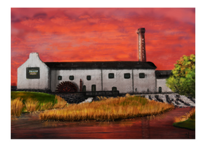 Kilbeggan Distillery at sunset
