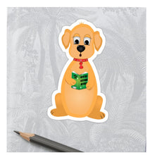 Load image into Gallery viewer, Colouring Page - Dog Reading
