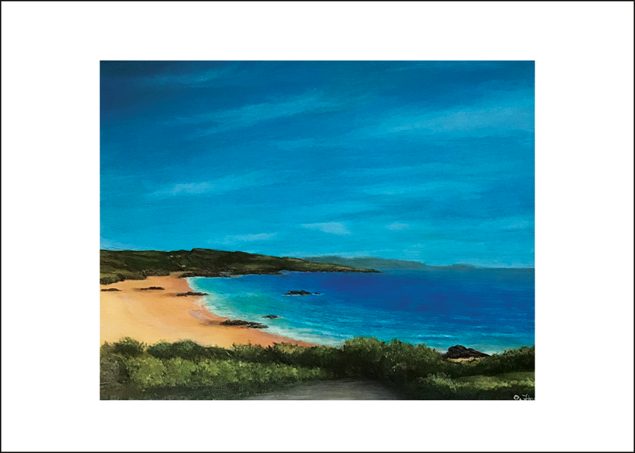 Fintra Beach Print of Original Painting