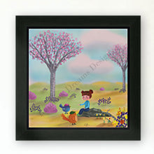 Load image into Gallery viewer, Girl and birds in Spring Print