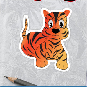 Colouring Page - Tiger