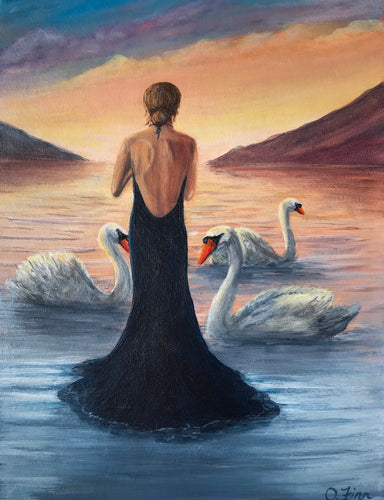 Children of Lir at Sunset