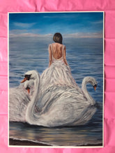 Load image into Gallery viewer, Children of Lir Print of Original Painting