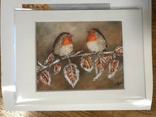Load image into Gallery viewer, Robins on a Frosty Branch Print