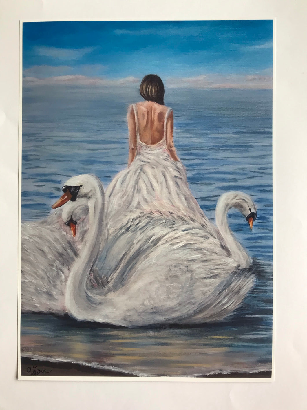 Children of Lir Print of Original Painting