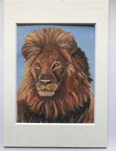 Load image into Gallery viewer, Lion print of original painting