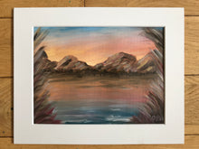 Load image into Gallery viewer, Sunset mountains