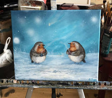Load image into Gallery viewer, Two Robins catch up