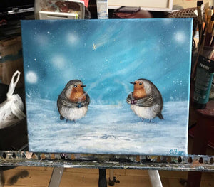 Two Robins catch up