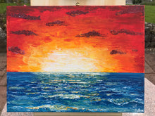 Load image into Gallery viewer, Sunset over the ocean